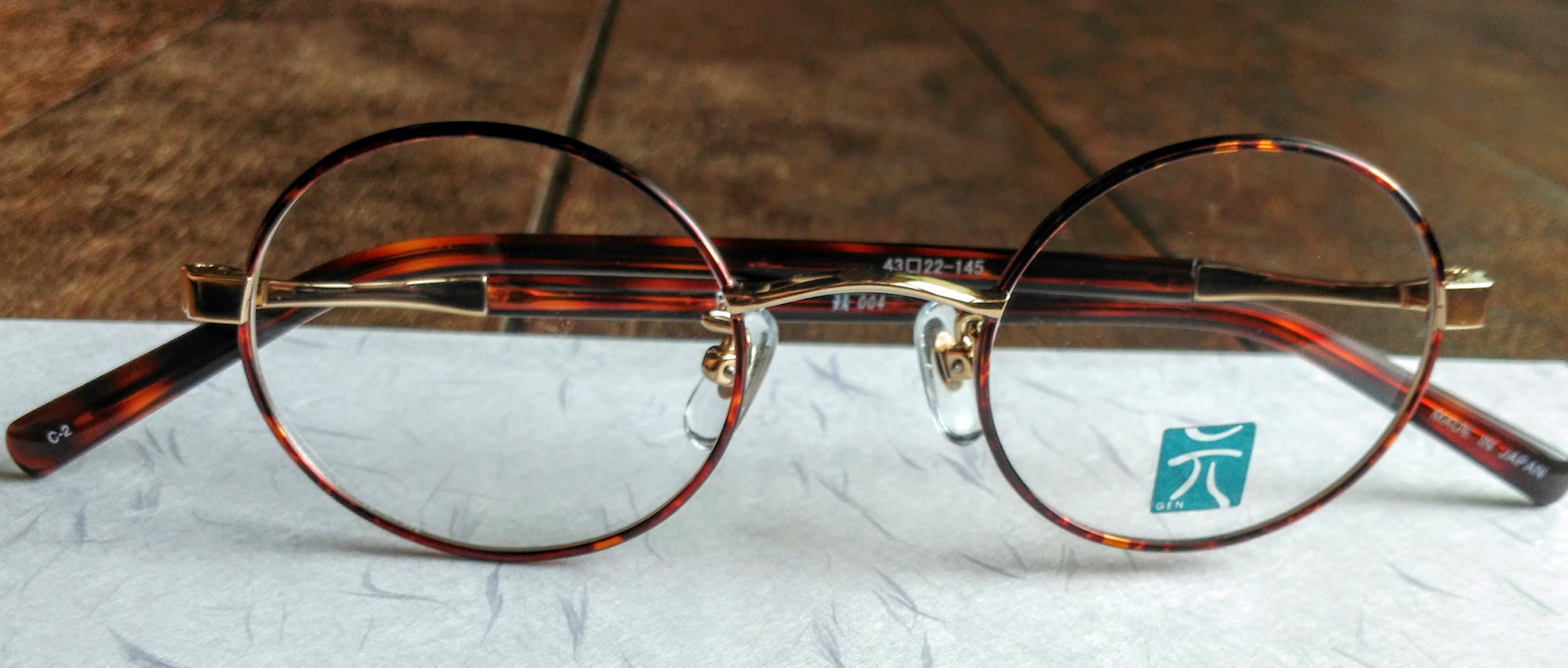 Japanese Handmade Titanium Eyeglass Frame on Washi Paper